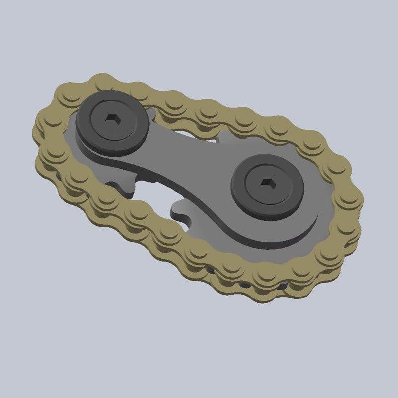 Fingertip Flywheel Gyro Sprocket