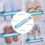 Wall-Mounted-Folding-Slippers-Rack