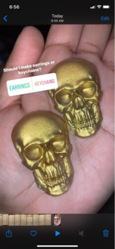 3D Skull Silicone Mold photo review