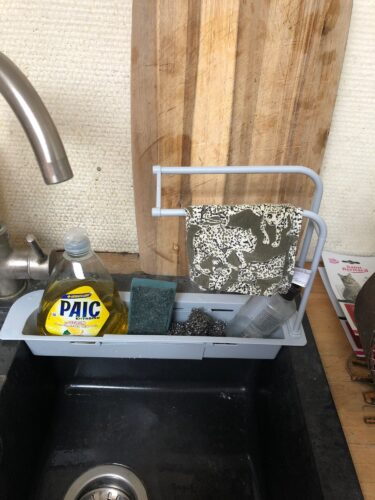 Telescopic Sink Storage Rack photo review