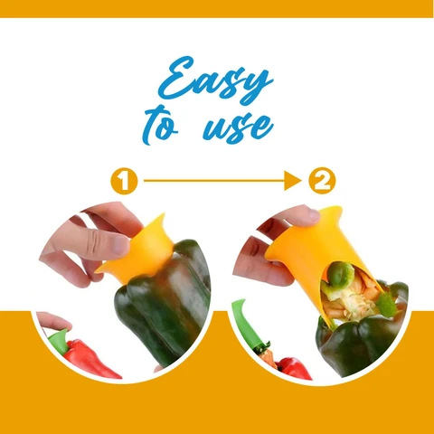 Quick and Easy Pepper Corer