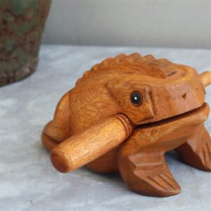 The Wooden Singing Frog