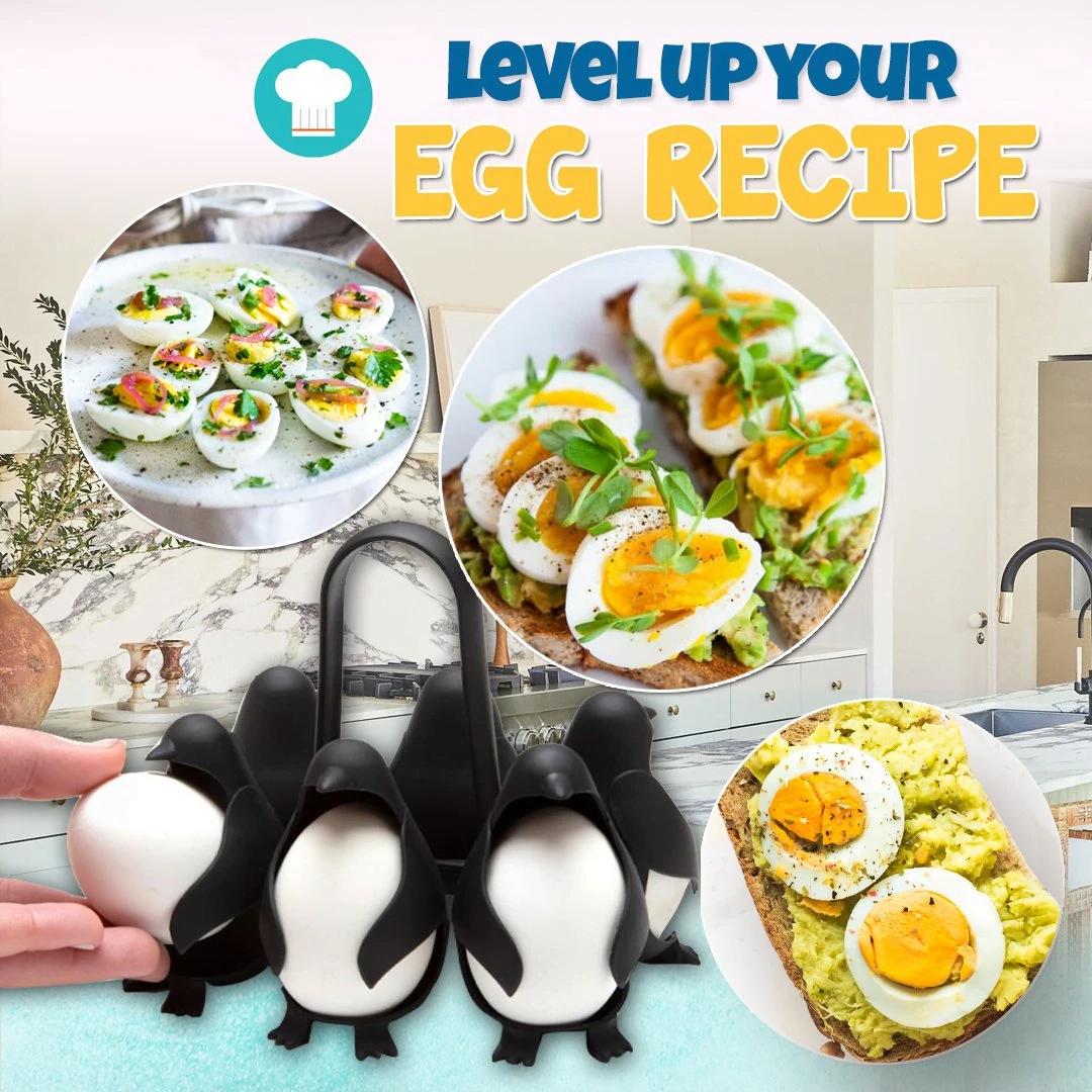 Penguin-Shaped Egg Boils Holder