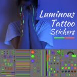 Glow-In-The-Dark Tattoo Sticker Set