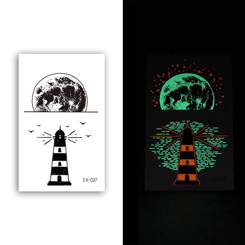 Glow-In-The-Dark Tattoo Sticker Set