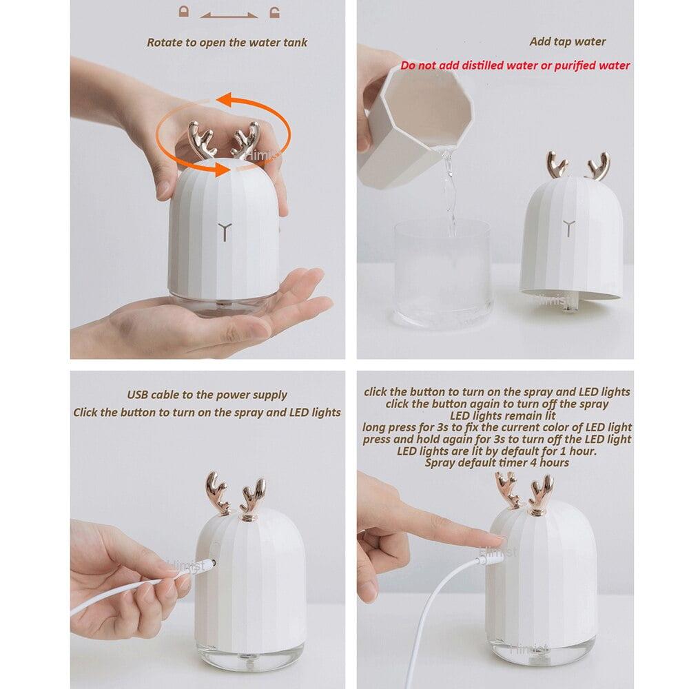 USB Humidifier Cartoon Deer Rabbit Humidifier 2