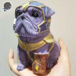 Creative-Hero-Dog-Resin-Piggy-Bank