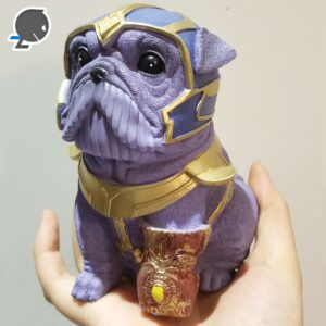 Creative Hero Dog Resin Piggy Bank